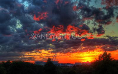 Sunset Above Wembley Stadium