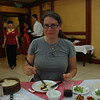 Susanne enjoying Peking Duck