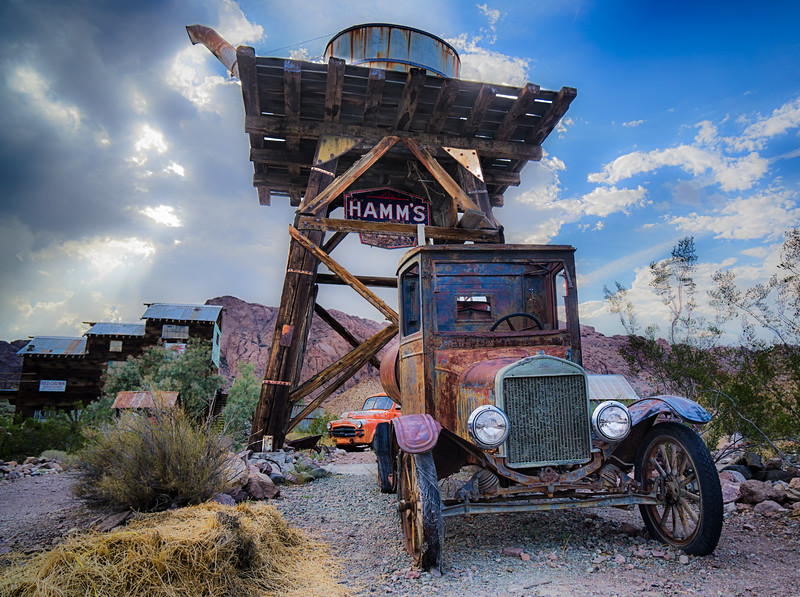 This one looks like it is running just fine!<br /> <br /> Shot at Eldorado, a Ghost Town near Nelson in Nevada.