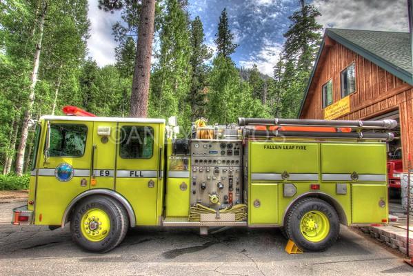 Fallen Leaf Fire Truck