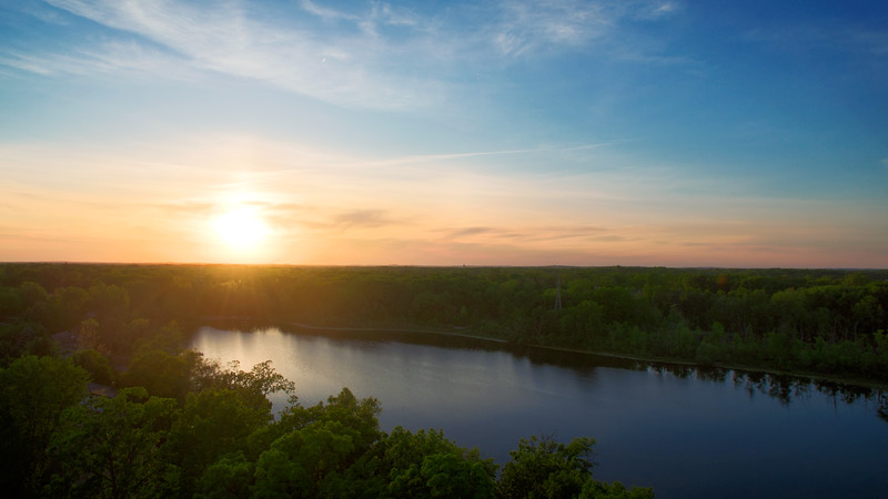 Sunset from a quadcopter