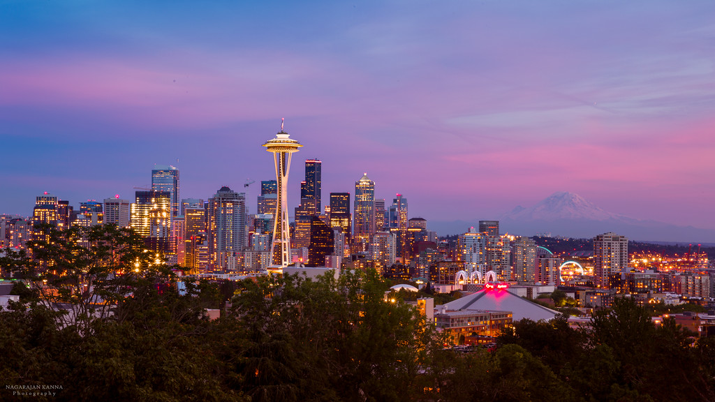 Seattle Skyline w/ Mt. Rainier