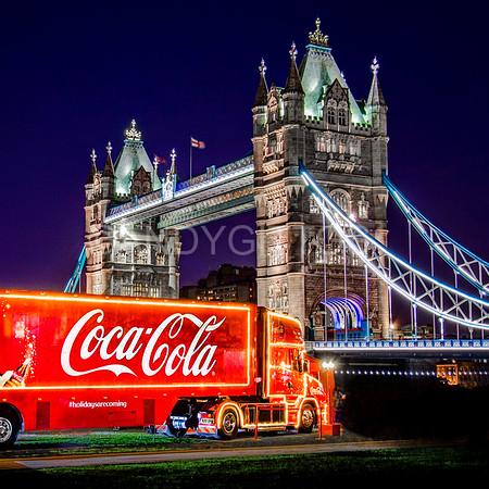 Coke Truck at Tower Bridge