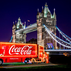 Coke Truck at Tower Bridge