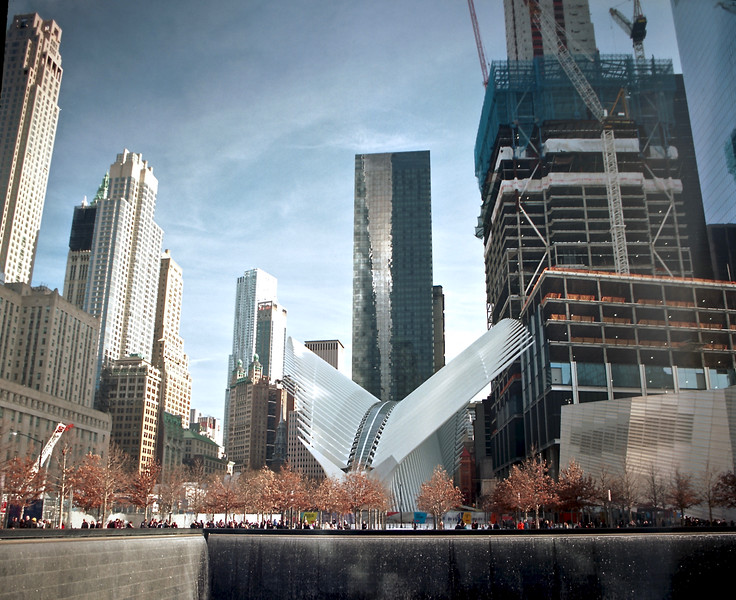 "World Trade Center - Ground Zero.  And bizarre ""Stegosaurus"" [1/2016]"