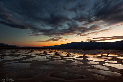 Sunset, Cottonball Basin, Death Valley, CA