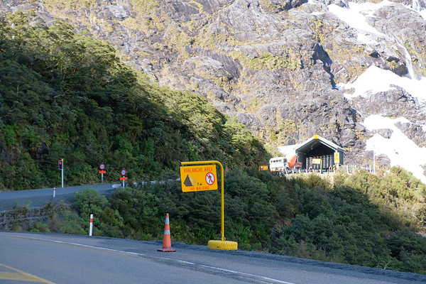 Homer Tunnel entrance on State Highway 94, the road to Milford Sound in New Zealand's Fjordland National Park. The Homer Tunnel is a 1.2 km (0.75 miles) long road tunnel in the Fiordland region of the South Island of New Zealand, opened in 1953