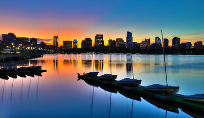 Boston Skyline Sunrise