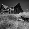 Old House and Wheelbarrow