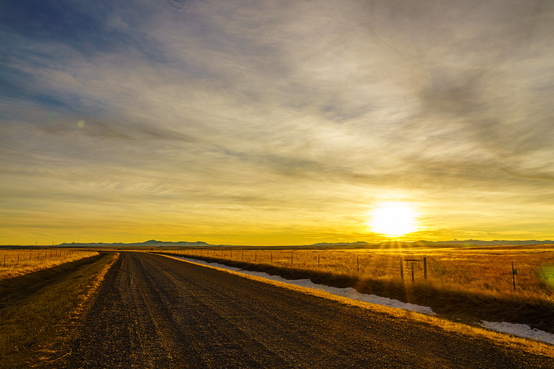 Sunrise over Central Montana