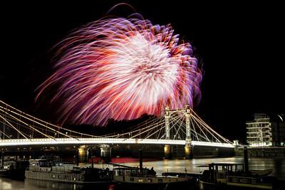 Albert Bridge Fireworks Finale