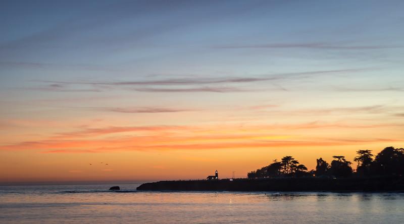 santa cruz sunset lighthouse