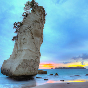 Cathedral Cove Sunrise Square