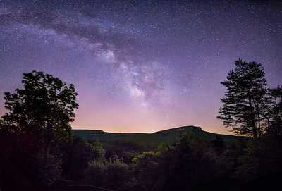 Milky Way over Hanging Rock and Moore's Knob
