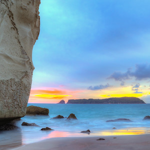 Cathedral Cove Sunrise Square Crop