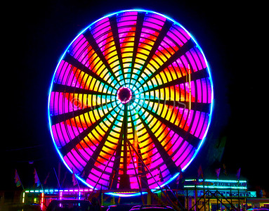Coloured Ferris Wheel