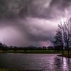 Lightning Lit Pond