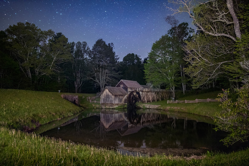 Mabry Mill at Night