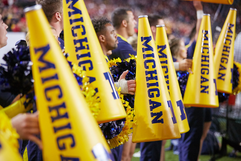 University of Michigan Cheer Team at the 2016 Orange Bowl