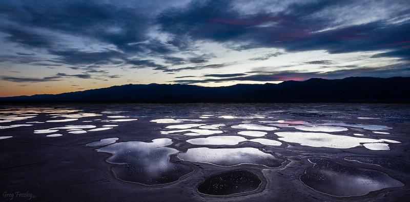 Sunset Cotton Ball Basin, Death Valley Nat'l Park
