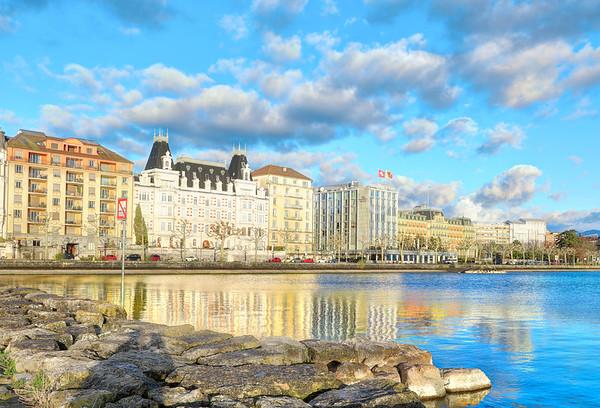 Reflections in Lake Geneva