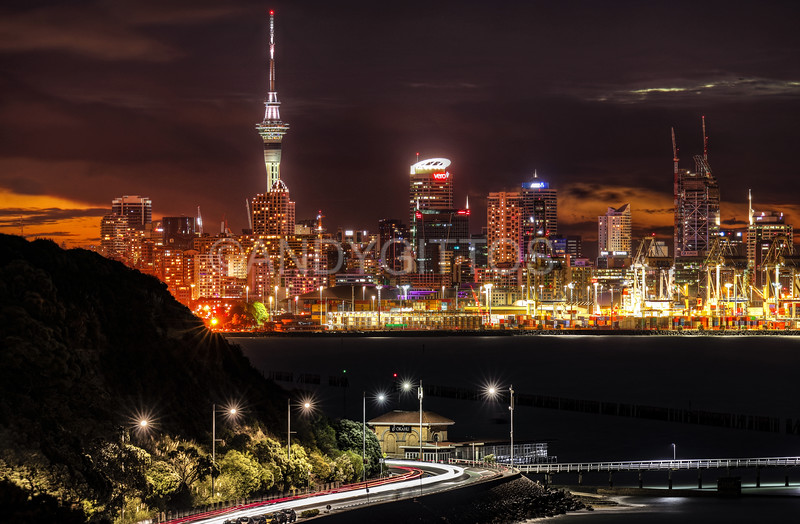 Aukland Night Skyline
