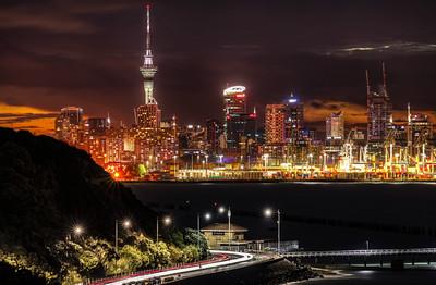 Aukland Night Skyline