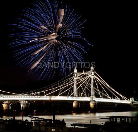 Albert Bridge Fireworks