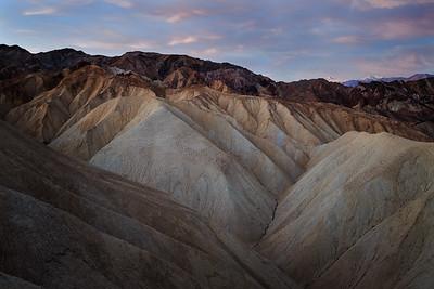 Zabriskie Point region of Death Valley National Park.  March 2015