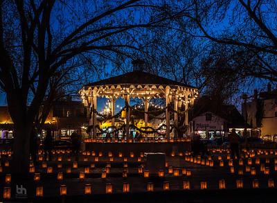 Gazebo in Old Town Albuquerque on Xmas Eve