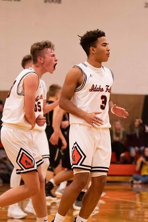 Idaho Falls Tigers Rigby Trojans Varsity Basketball