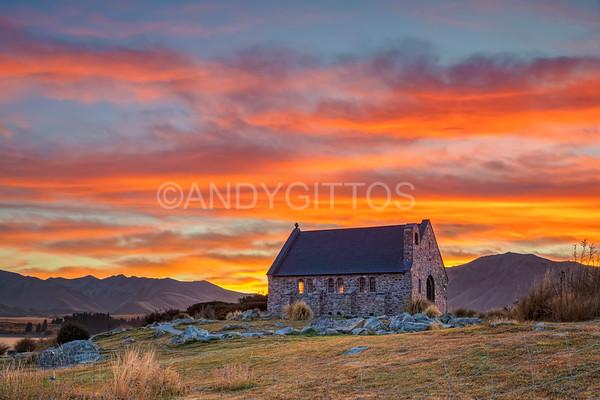 Sunrise at Church of the Good Shepherd
