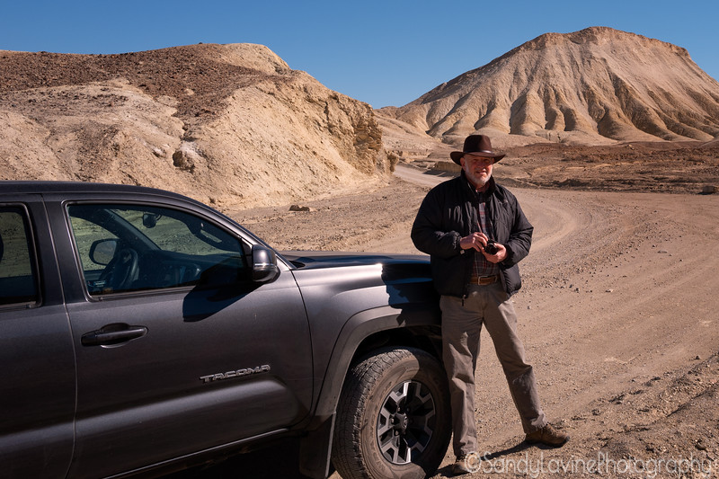 Sandy at Twenty Mule Team Canyon