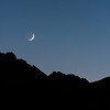 New moon setting over the Whitney Portal