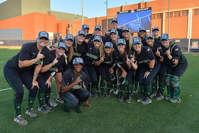 TUCSON, AZ - MAY 28:  The Baylor Bears pose for a photo after game three of the NCAA Div. I Super Regional against the Arizona Wildcats on May 26, 2017 at Hillenbrand Stadium in Tucson, Arizona. Baylor won 6-5 to advance to the Women's College World Series in Oklahoma City, Oklahoma.  (Photo by Sam Wasson)