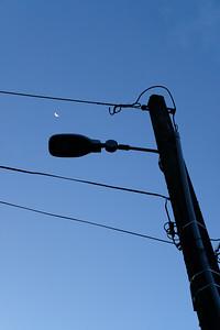 177 moonlight over street light