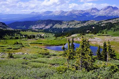 Westward View from Cottonwood Pass - Sawatch Range