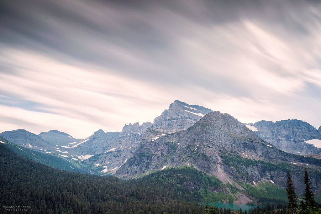 Mountain range in Many Glacier , Glacier NP