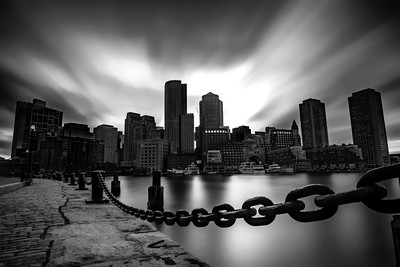 Fan Pier Skyline B&W