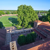 View of the Cranbrook Alumni Courtyard and Football Oval from the Hoey Observatory Tower <br /> <br /> Unfortunately, this photograph is not available for purchase due to the Cranbrook Educational Community's policy on commercial photography.