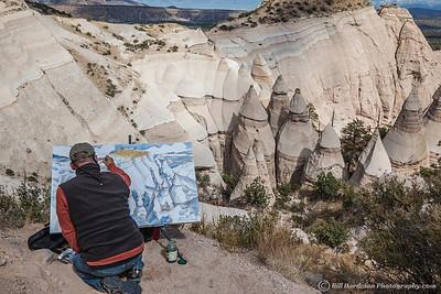 Artist at Kash-Katuwe Tent Rocks