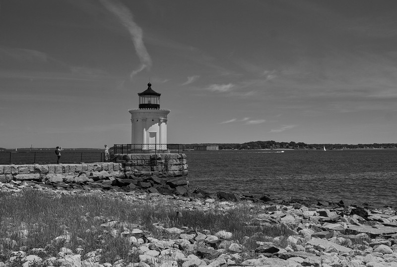 "Portland Breakwater Lighthouse was built in 1875. ""Bug Light"""