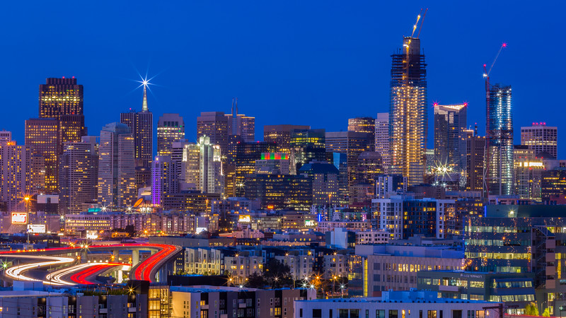 San Francisco Skyline, View from Potrero Hill
