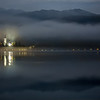 Lake Bled in morning mist, Slovenia
