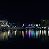 inner harbour at night