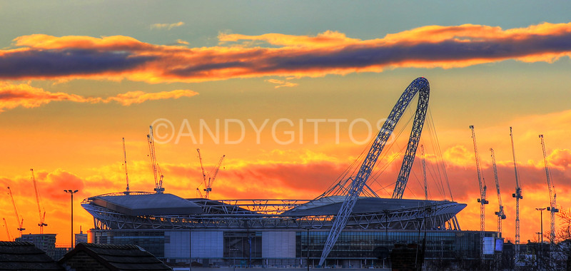 Wembley Sunset
