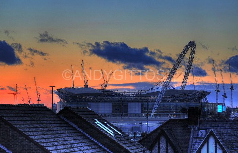 Wembley Rooftops Sunset