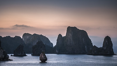 Dusk at Ha Long Bay, Vietnam