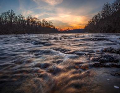 Yadkin River Sunset
