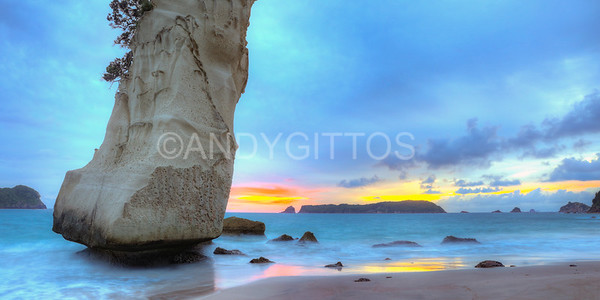 Cathedral Cove Sunrise Pano